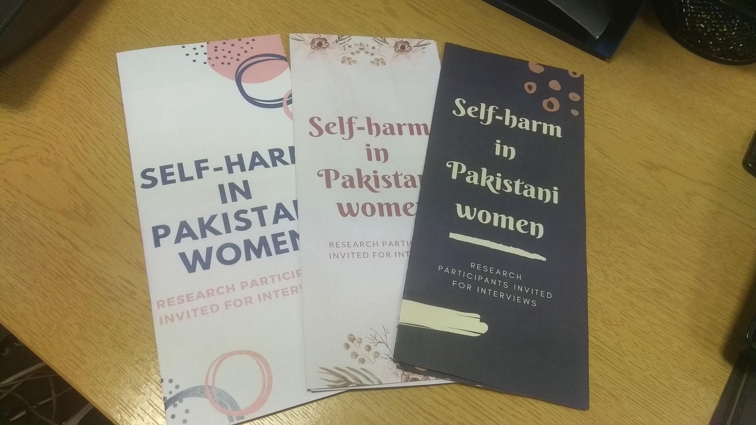 Leaflets for self harm